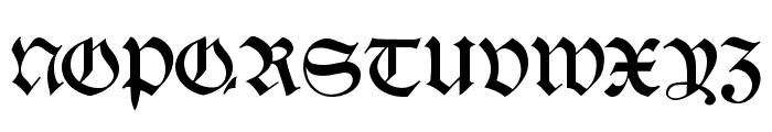 Schwaben Alt Bold Font UPPERCASE