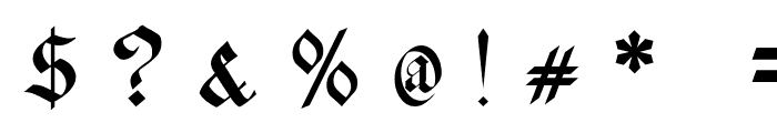 Schwaben Alt UNZ1A Italic Font OTHER CHARS