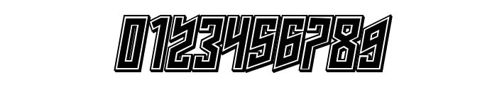 Schwachsinn 3D Filled Italic Font OTHER CHARS