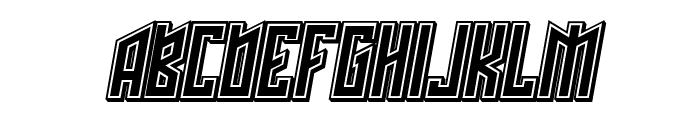 Schwachsinn 3D Filled Italic Font UPPERCASE