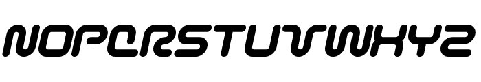 Sci Fied BoldItalic Font UPPERCASE