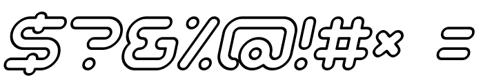 Sci Fied Outline Italic Font OTHER CHARS