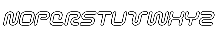 Sci Fied Outline Italic Font UPPERCASE