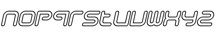 Sci Fied Outline Italic Font LOWERCASE