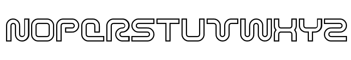 Sci Fied X Outline Font UPPERCASE