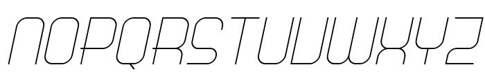Science Fair Light Italic Font UPPERCASE