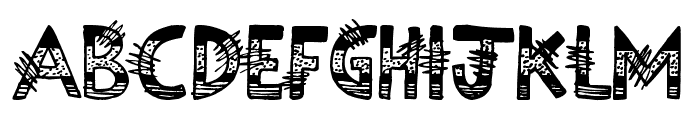 Science Project Font UPPERCASE