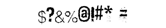 Scizzorwreck_HalbfettAlt Font OTHER CHARS