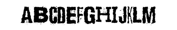 Scizzorwreck_HalbfettAlt Font UPPERCASE