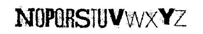 Scizzorwreck_HalbfettAlt Font LOWERCASE