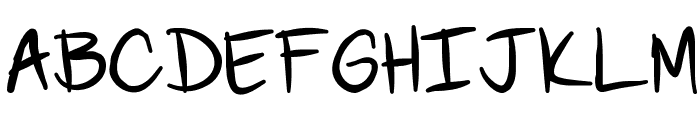 Scoder Refined Font UPPERCASE