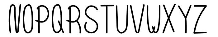 Scoop Normal Font LOWERCASE