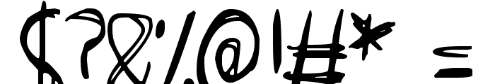 Scraggly Font OTHER CHARS