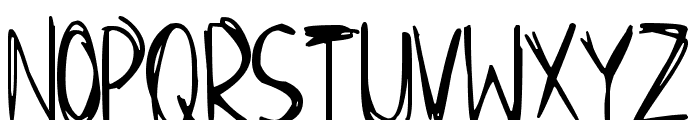 Scraggly Font LOWERCASE