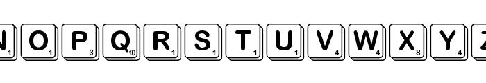 Scramble Font UPPERCASE