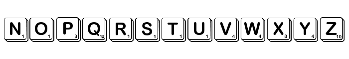 ScrambleMixed Font LOWERCASE