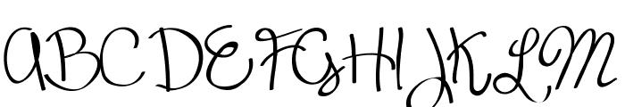 Scrappy looking demo Font UPPERCASE