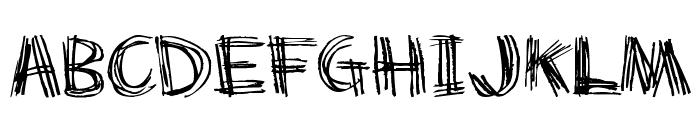 Scratch my back Font UPPERCASE