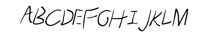 Scratched-Italic Font UPPERCASE