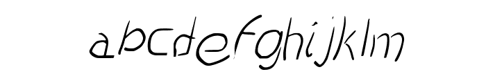 Scratched-Italic Font LOWERCASE