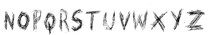 Scratched on X Ray Font UPPERCASE