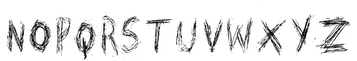 Scratched on X Ray Font LOWERCASE