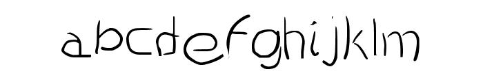 Scratched Font LOWERCASE
