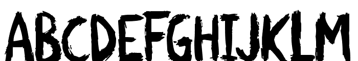 Scratchies Font LOWERCASE