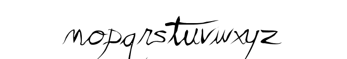 Scratchy Mess Font LOWERCASE