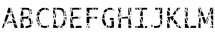 Scratchy Font UPPERCASE