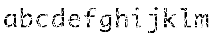 Scratchy Font LOWERCASE