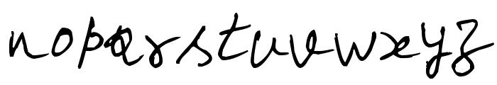 Scrawl Font LOWERCASE