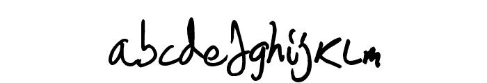 Scrawlies Font LOWERCASE