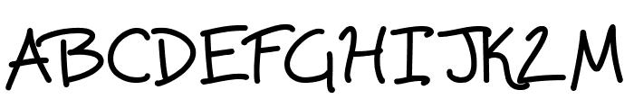 Scrawling Pad Font UPPERCASE