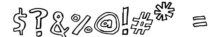 Scrawllege Font OTHER CHARS