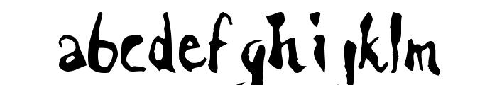 Scrawn Font LOWERCASE