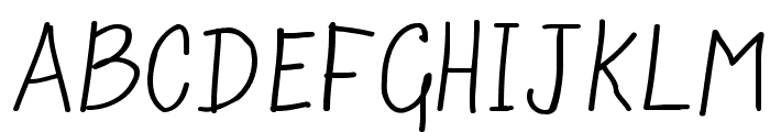 Scrawny Kids Font UPPERCASE