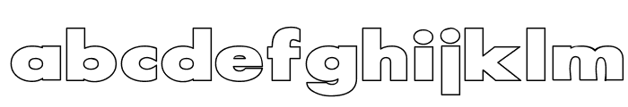 Scream outlined Font LOWERCASE