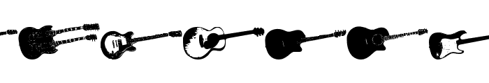 Screaming Guitar Font UPPERCASE