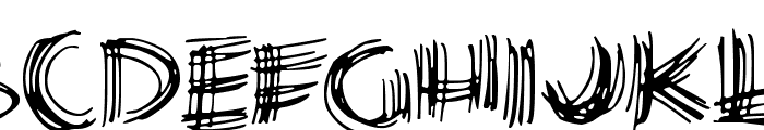Scribble Lines Font UPPERCASE