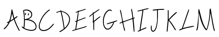 Scribble On The Bus Regular Font UPPERCASE