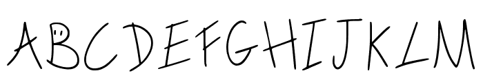 Scribble On The Bus Regular Font LOWERCASE