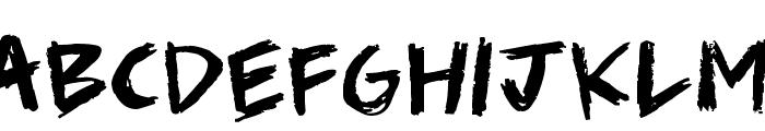 Scribble Scrawl Font UPPERCASE