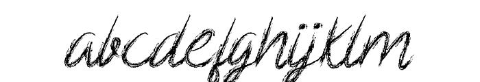 Scribble Script Font LOWERCASE