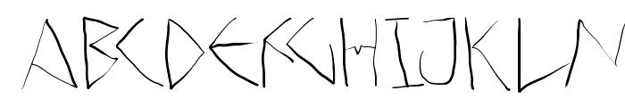 ScribbleDichFrei Font LOWERCASE
