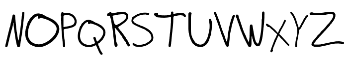 ScribbleZack Font UPPERCASE