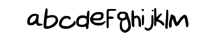 Scribble_Hand Font LOWERCASE