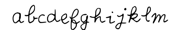 Scribble_Scrabble Font LOWERCASE