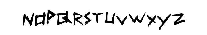 Scribble Font LOWERCASE