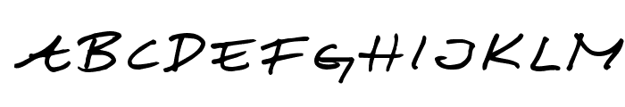 Scribbled Monkey Font UPPERCASE